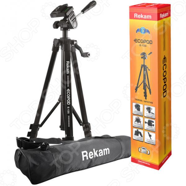 Штатив для фото- и видеотехники Rekam ECOPOD E-135 rekam ecopod e 108 штатив