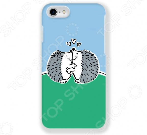 Чехол для iPhone 7 Mitya Veselkov «Влюбленные ёжики» стоимость