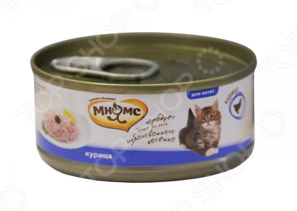 Корм консервированный для котят Мнямс с курицей в желе