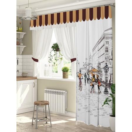 Купить Комплект штор для окна с балконом ТамиТекс «Любимый город»