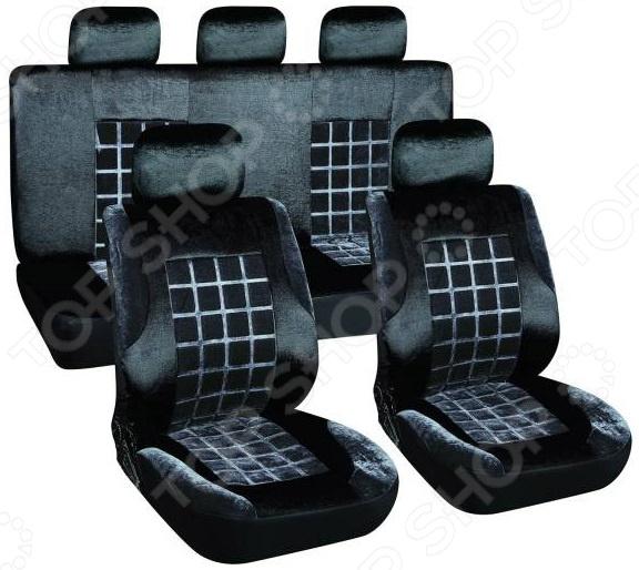 Комплект чехлов на сиденья автомобиля SKYWAY Velvet-1