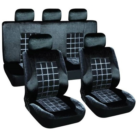 Купить Комплект чехлов на сиденья автомобиля SKYWAY Velvet-1