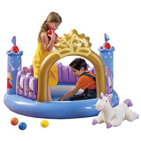 Купить Бассейн надувной детский Intex с шариками «Волшебный замок»