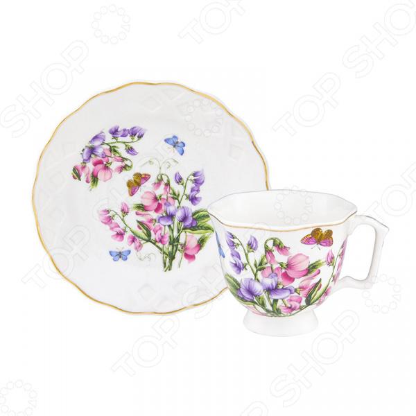 Кофейная пара Elan Gallery «Душистый цветок»