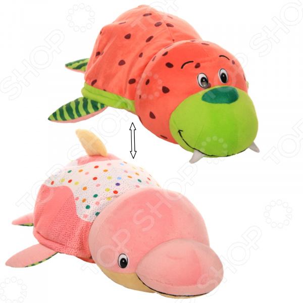 Мягкая игрушка ароматизированная 1 Toy большая «Вывернушка 2в1: Морж-Дельфин»