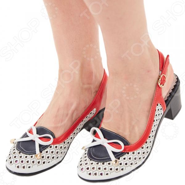 Туфли EGO «Элегия». Цвет: белый, красный