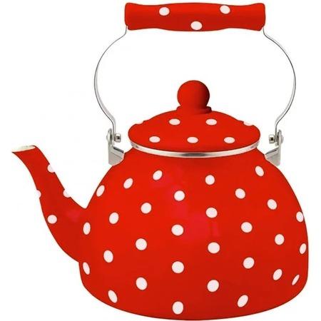 Купить Чайник эмалированный Kelli KL-4462 «Горох»