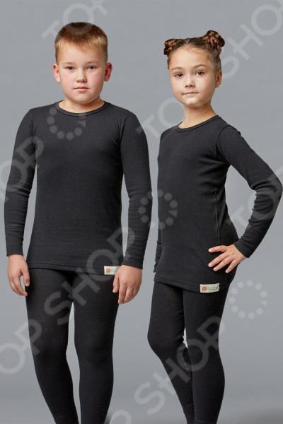 Лонгслив детский «Ангора» 1723331. Цвет: черный ангора одежда