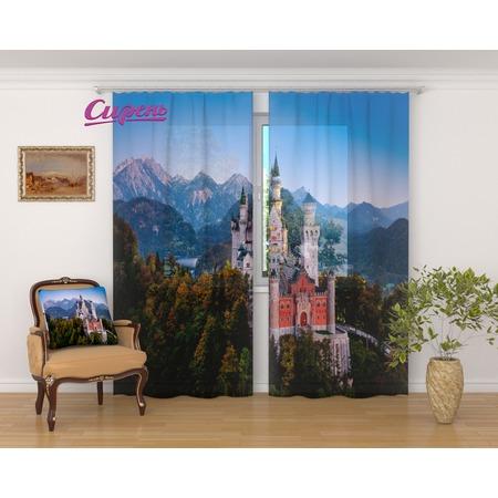 Купить Фототюль Сирень «Замок в Баварии»