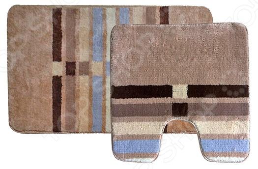 Комплект ковриков для ванной и туалета Dasch «Параллели» коврики для ванной dasch комплект симона