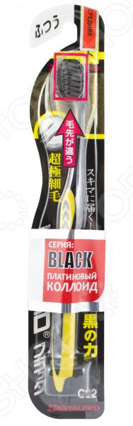 Зубная щетка DENTALPRO Black Ultra Slim. Жесткость: средняя (medium)
