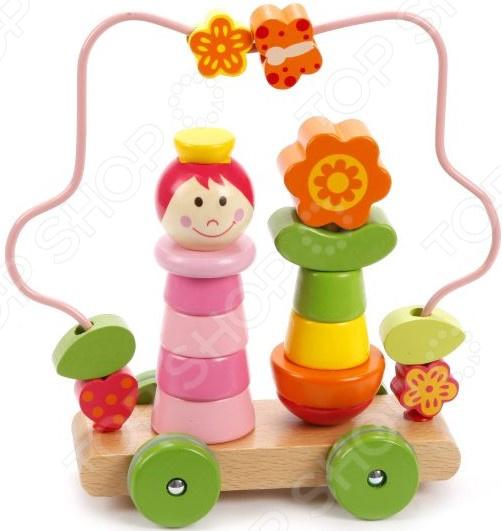 Игрушка-пирамидка Mapacha на колесиках «Лабиринт. Девочка» чикко игрушка развивающая улитка на колесиках вперед ребята