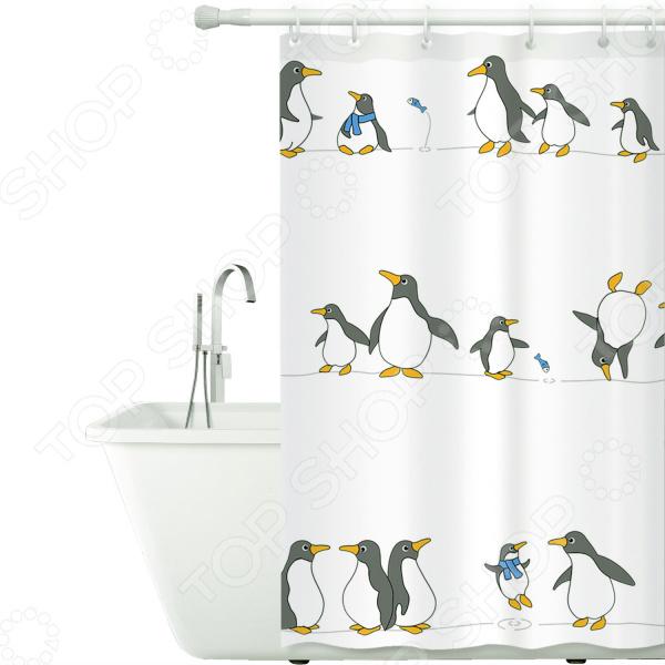 Штора для ванной Tatkraft Penguins