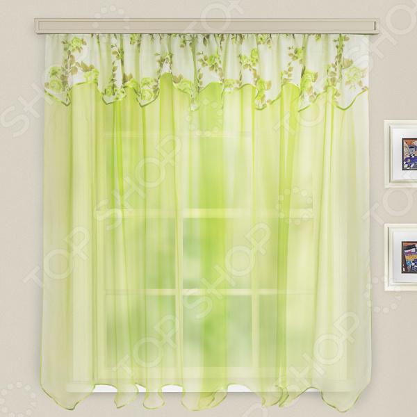 Гардина легкая WITERRA «Нежность». Цвет: зеленый. В ассортименте