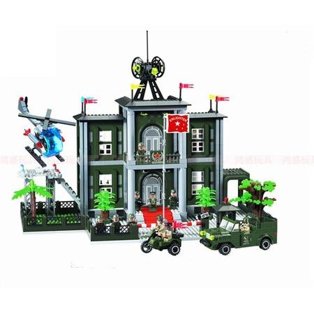 Купить Игровой конструктор Brick «Центр управления войсками» 825