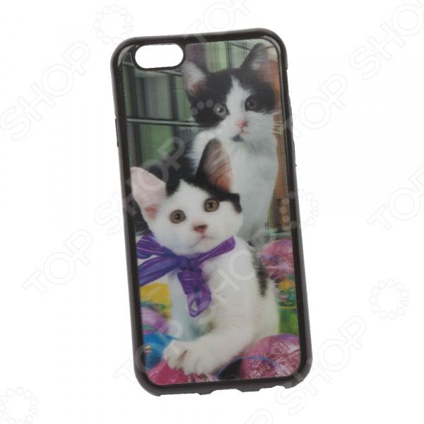 Чехол для iPhone 6/6S 3D «Котики»