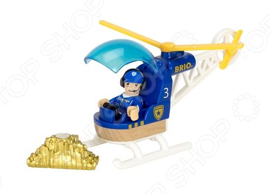 Набор игровой Brio «Полицейский вертолет» каталки игрушки brio вертолет