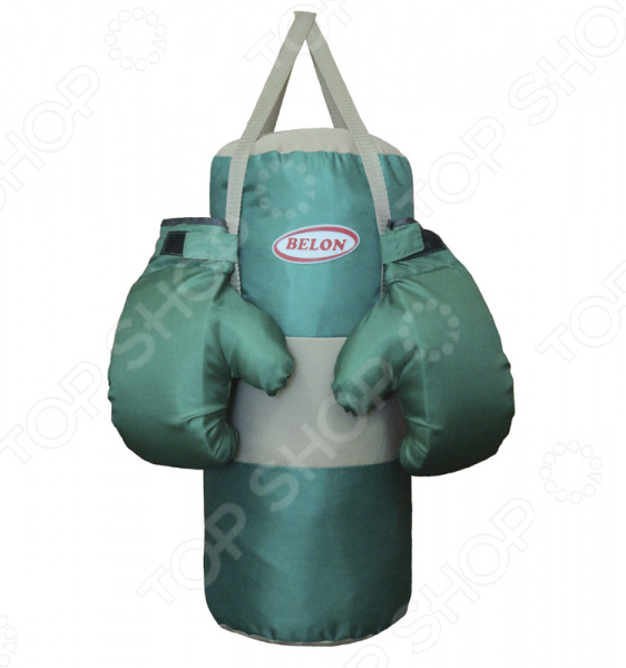 Набор для бокса детский BELON Два цвета это отличные тренировочные перчатки и груша. Небольшой боксерский набор подойдет для ребенка 6-10 лет. Набор в игровой форме вдохновит малыша на занятия спортом с раннего детства. Он каждый день с удовольствием будет тренировать мышцы и при этом получит море радостных эмоций. Занятия боксом тренируют у детей выносливость, скорость реакции и физическую силу, а также повышают самооценку и уверенность в себе. Перчатки очень хорошо смягчают удары благодаря мягкой прослойке из поролона. Манжеты на липе. Мешок выполнен из ткани ПВХ тента в форме цилиндра высотой, плотно набит синтепоном и измельченными обрезками ткани.