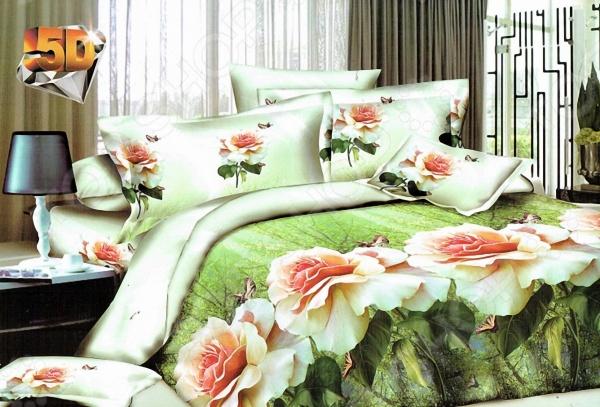 Комплект постельного белья с эффектом 5D «Нагай» BL8015. Евро