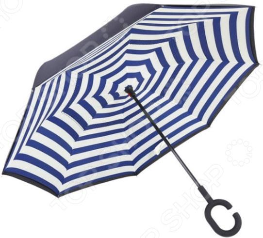 Зонт с обратным открыванием «Зебра»