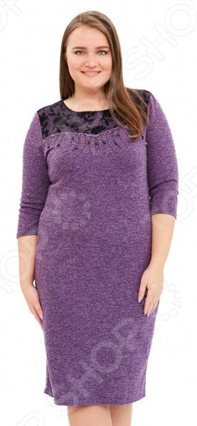 Платье LORICCI «Женские слабости». Цвет: фиолетовый