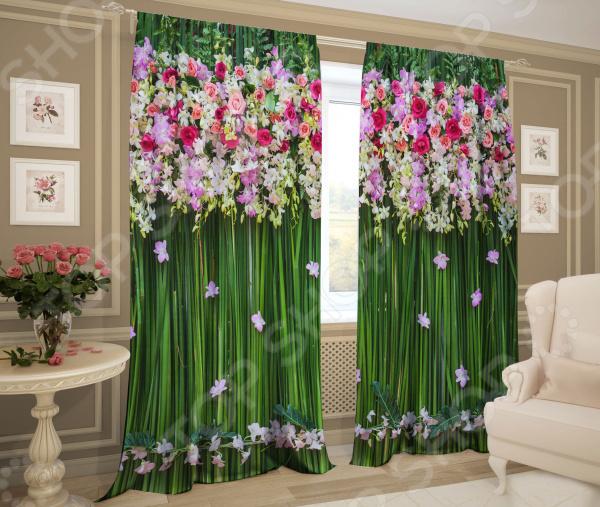 Комплект штор ТамиТекс «Зеленый занавес»