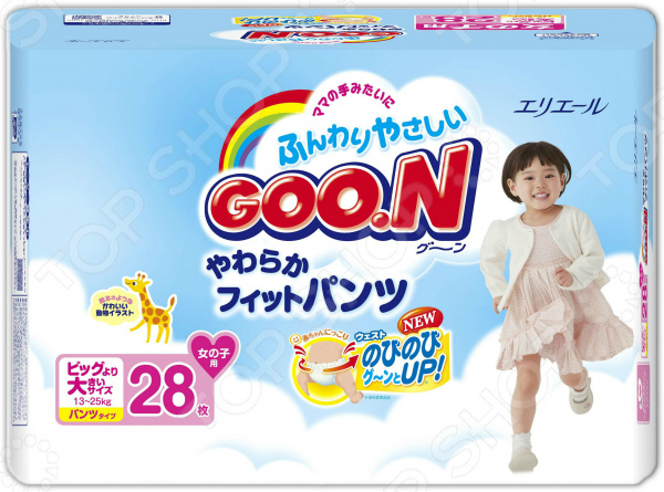 Трусики-подгузники для девочки GOO.N SBig (13-25 кг)