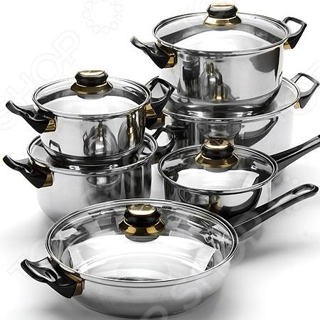 Zakazat.ru: Набор посуды «Бон Аппетит»: 12 предметов. Цвет: черный