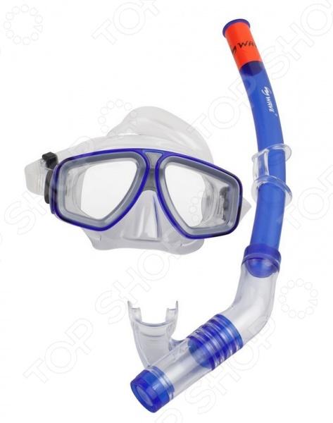 Набор из маски и трубки WAWE MS-1314S6 Набор из маски и трубки WAWE MS-1314S6 /Синий