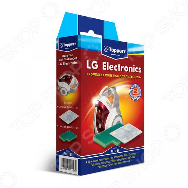 Фильтр для пылесоса Topperr FLG 89 topperr l 30 фильтр для пылесосовlg electronics 4 шт