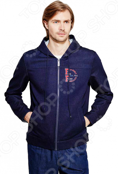Куртка Finn Flare B17-22011. Цвет: темно-синий