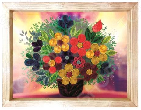 Набор для создания квиллинг-панно Азбука тойс «Цветочная фантазия»