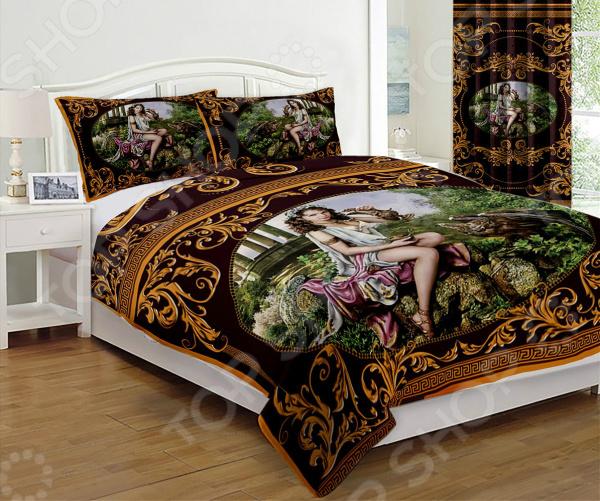 Комплект постельного белья «Гречанка бордо». 2-спальный