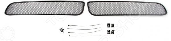 Сетка на бампер внешняя Arbori для Infiniti QX50, 2012. Цвет: черный бампер jc sportline infiniti