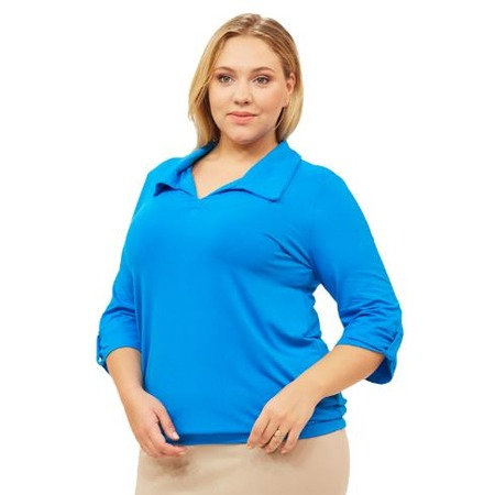 Купить Блуза Матекс «Евдокия». Цвет: голубой