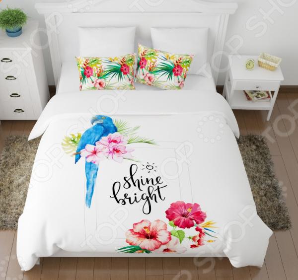 Zakazat.ru: Комплект постельного белья Сирень «Голубой попугай». Евро