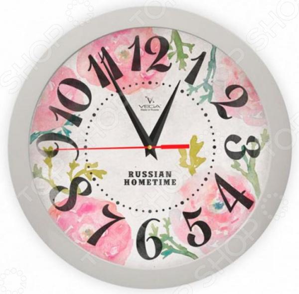 Часы настенные Вега П 1-5/7-269 «Розовые маки» тар п лим 16 10 5 1 5 см маки 8 гран с вилкой 1133596