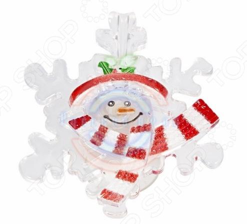 Фигура светодиодная на присоске Neon-Night «Снеговик на снежинке»