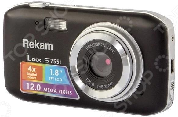 Цифровой фотоаппарат Rekam iLook S755i фотоаппарат rekam ilook s755i black