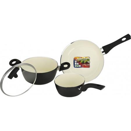 Купить Набор кухонной посуды c внутренним керамическим покрытием Vitesse «Black–and–White» VS-2901