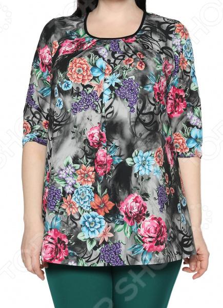 Блуза Лауме-Лайн «Сказочный сад». Цвет: серый блуза 5 3 mission цвет мультиколор