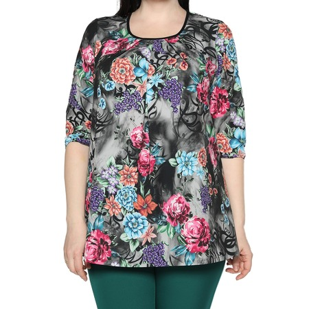 Купить Блуза Лауме-Лайн «Сказочный сад». Цвет: серый