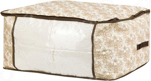 Кофр для хранения одеял и пледов EL Casa «Цветочное изобилие»