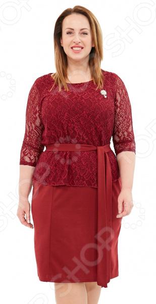 Платье Лауме-Лайн «Царица». Цвет: бордовый