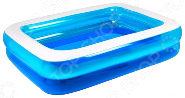 Бассейн надувной Jilong Giant Rectangular Pool 3-ring JL010184NPF бассейн каркасный jilong rectangular 258х179х66см голубой 16101eu