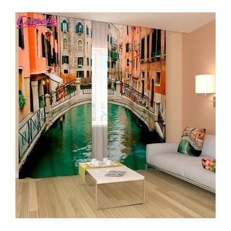 Купить Фотошторы Сирень «Маленькая Венеция»