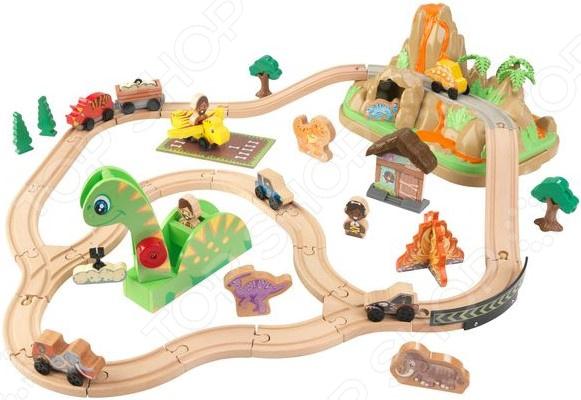 Игровой набор: трасса в джунглях и их обитатели KidKraft «Динозавр»