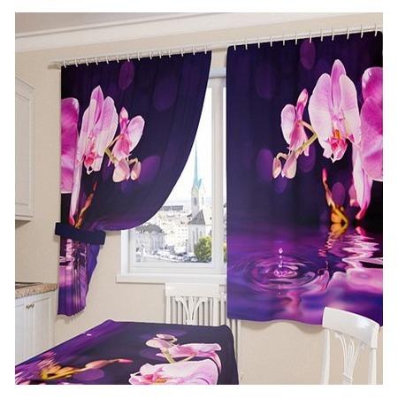 Купить Фотошторы Сирень «Орхидея над водой»