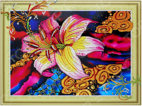 Набор для творчества «Алмазная мозаика». Рисунок: «Золотая лилия»
