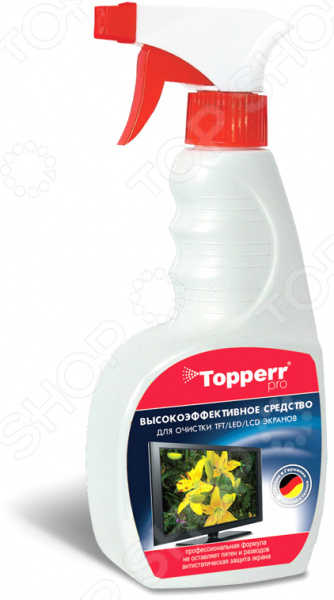 Спрей для ухода за мониторами Topperr 3001 набор для ухода за мультиваркой topperr 3424